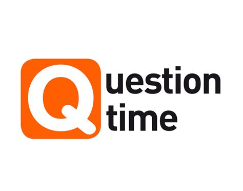 logo development questions question time logo logo created for new web product