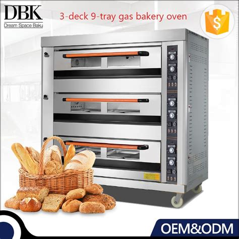 Gas Deck Oven Stainless Hitech 3 Deck 6 Trays Arf 60h dbk baking equipment 3 deck 9 tray bakery oven commercial cake bread baking stainless steel gas