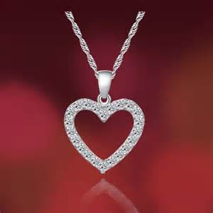 Personalized Infinity Necklace Women S Love Heart Sterling Silver Cz Pendant Necklace Yoyoon 8984