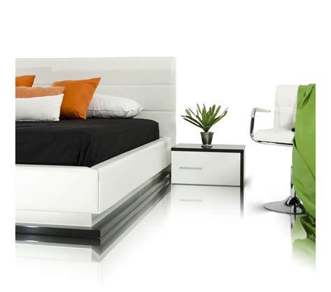 Contemporary Platform Bed Dreamfurniture Infinity Contemporary Platform Bed With Lights