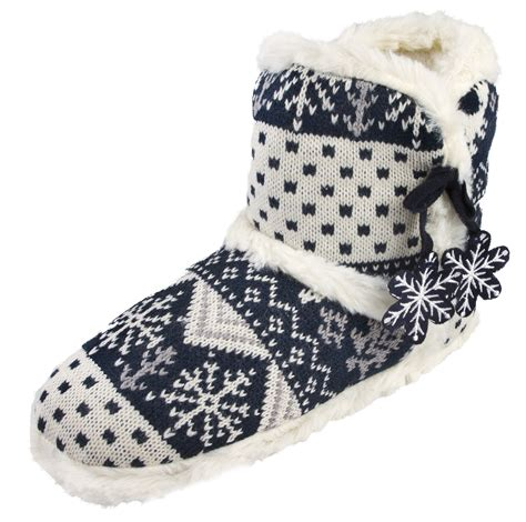 slippers size 3 womens slipper boots knitted fur fleece booties