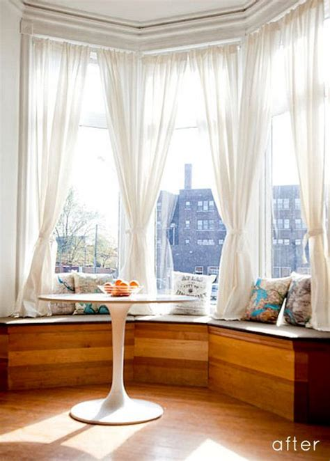 modern bay window curtains bay windows are nice but often there s a an quot old quot feeling