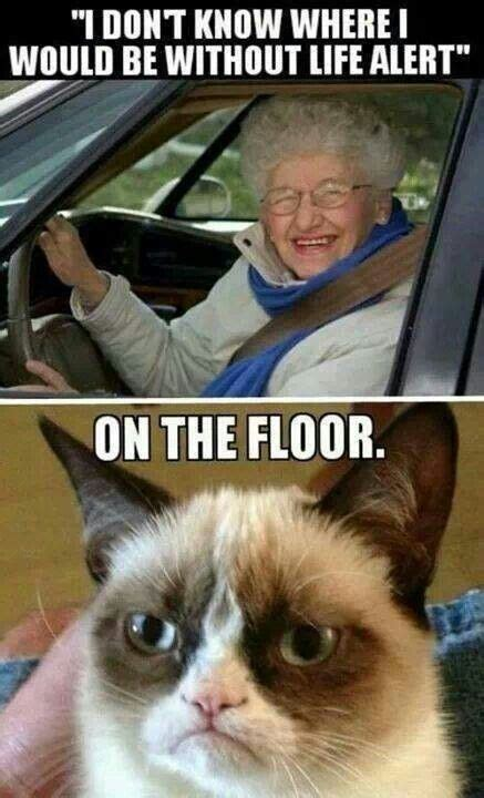 Life Alert Lady Meme - tard the cat old woman life alert funny sarcastic and