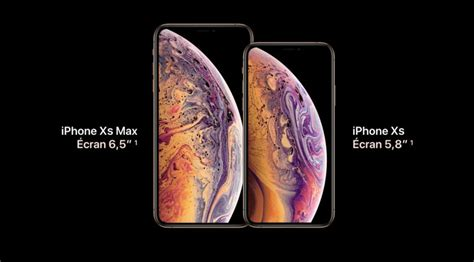 l iphone xs et l iphone xs max caract 233 ristiques prix et date de sortie