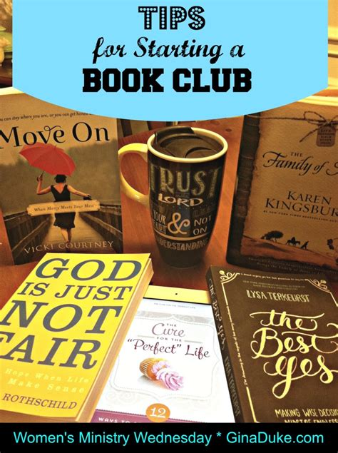 7 Tips To Start A Book Club by S Ministry Wednesday Tips For Starting A Book Club