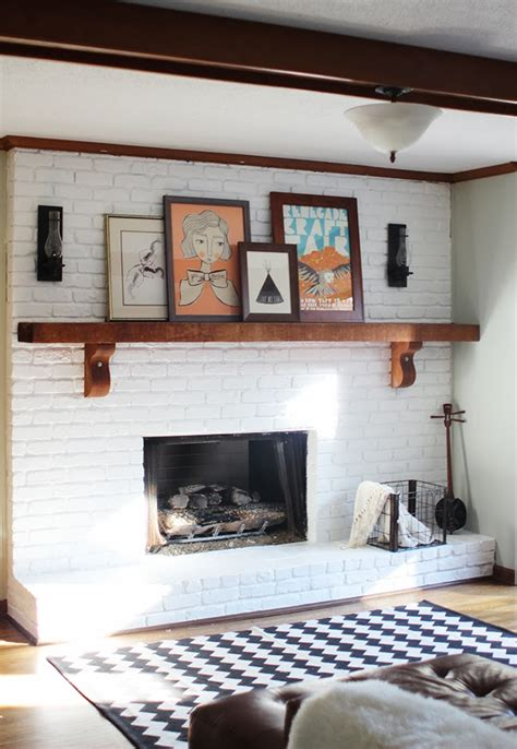 25 painted brick fireplaces in the living room decoration