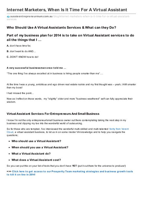 assistant agreement template marketers when is it time for a assistant