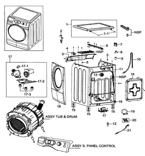 samsung front load washer parts diagram samsung washer parts model wf337aarxaa0000 sears