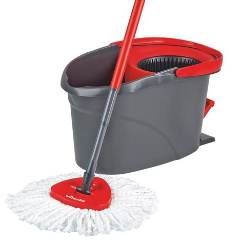 vileda easy wring clean microfibre mop bucket with power spin wringer ebay