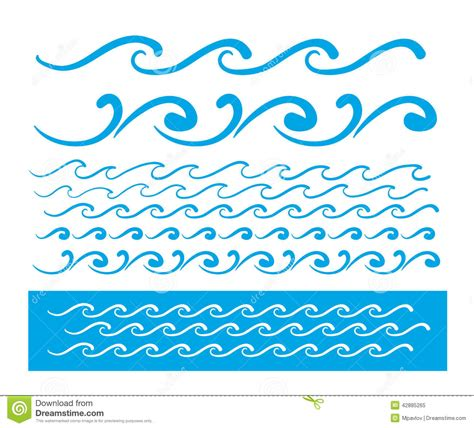wave pattern line drawing seamless vector blue wave line pattern stock vector