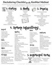 ultimate free printable decluttering checklist konmari success making lemonade