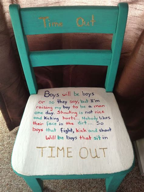 Time Out Chair Sayings boys time out chair i m going to use this saying on a time out bench for my boys quotes