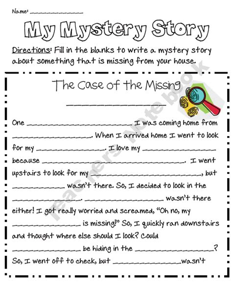 themes for a mystery story my mystery story freebie fun filler activity for those