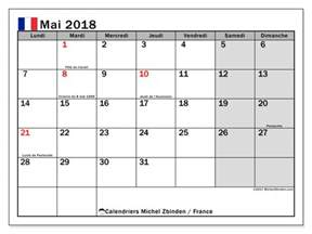 Calendrier Mai Calendrier Mai 2018