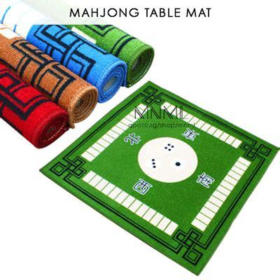 qoo10 sound absorbing mahjong table mat non slip card