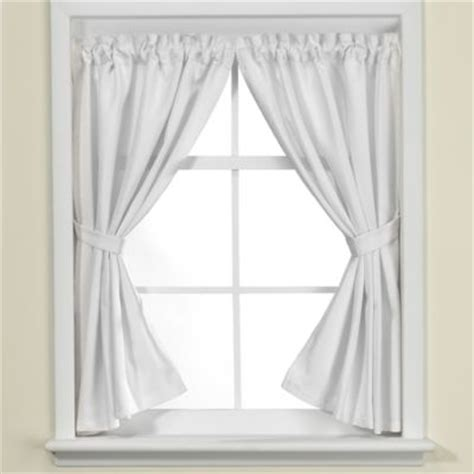 Buy White Shower Curtain And Window Curtain From Bed Bath Bathroom Shower Window Curtains