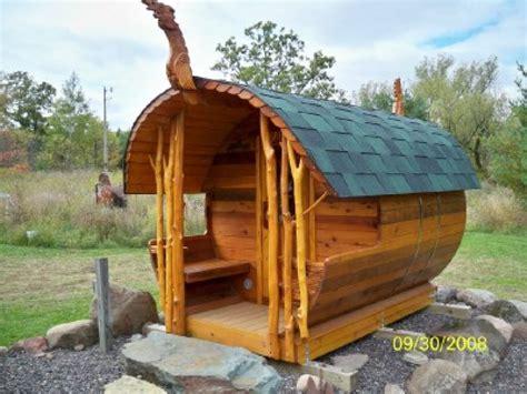 diy backyard sauna barrel sauna pictures