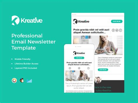 free responsive email newsletter templates 20 free email newsletter templates for 2018 dribbble