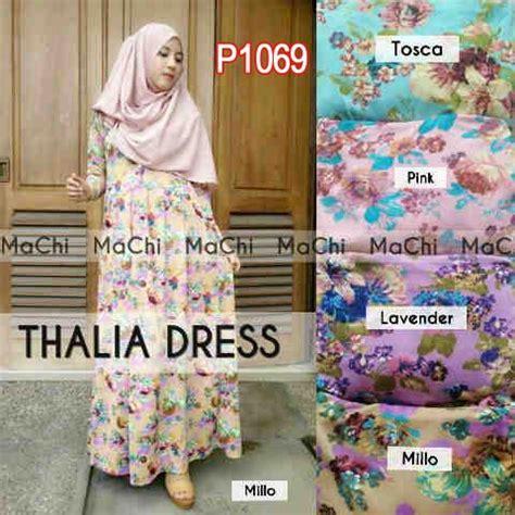 Gamis Maxi Jersey Bunga baju gamis maxi thalia bunga p1069 busana muslim remaja