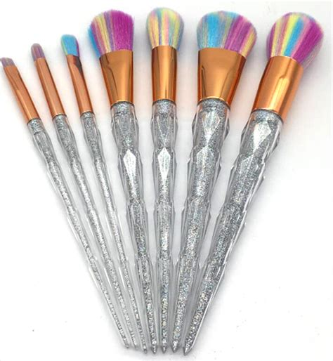 Unicorn Makeup Brush Set 7pcs Eye Makeup Kuas Makeup unicorn makeup brush set 7pcs onyx bunny