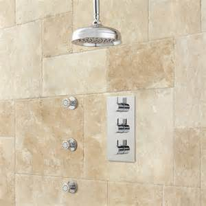 isola thermostatic shower system with rainfall shower 3