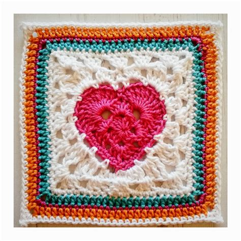 pattern for heart granny square granny heart square crochet square pattern knitting bee
