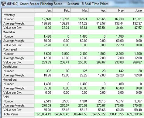 Cattle Inventory Spreadsheet by Livestock Production Software Livestock Software