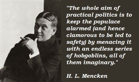 Quote Of The Day Hl Mencken h l mencken quotes on education quotesgram