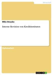 interne revision bank interne revision kreditinstituten hausarbeiten