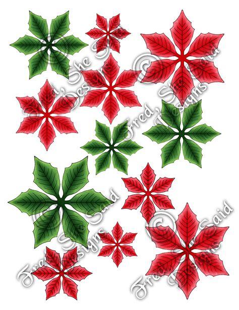 poinsettia designs fred she said designs the store pointy poinsettia