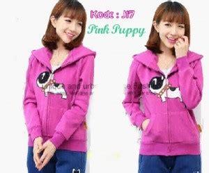 Atasan Wanita Sweater Cewek Pink Babyterry Murah Terbaru Fish In jaket cewek pink puppy j17 untuk remaja keren lucu