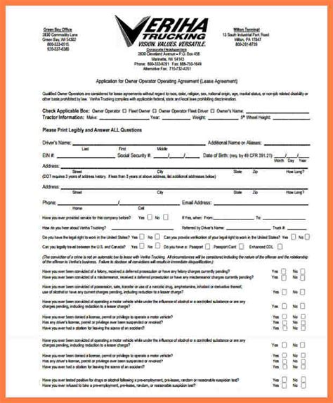 owner operator lease agreement template 5 company lease agreement company letterhead