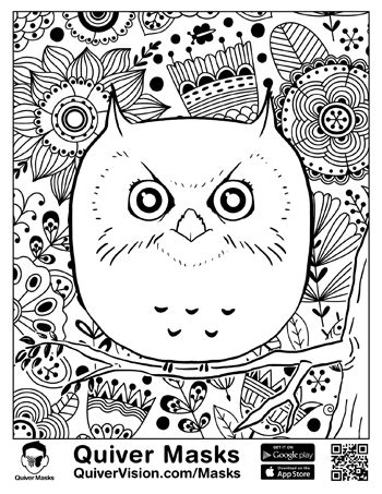 Quiver Coloring Page by Masks Quivervision 3d Augmented Reality Coloring Apps