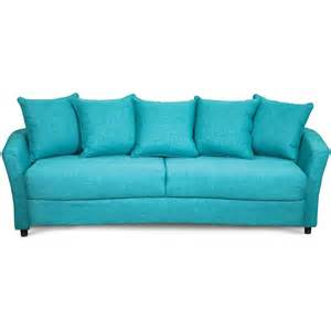 Turquoise Sofas Loveseats Marana Turquoise Upholstered Casual Sofa Sleeper