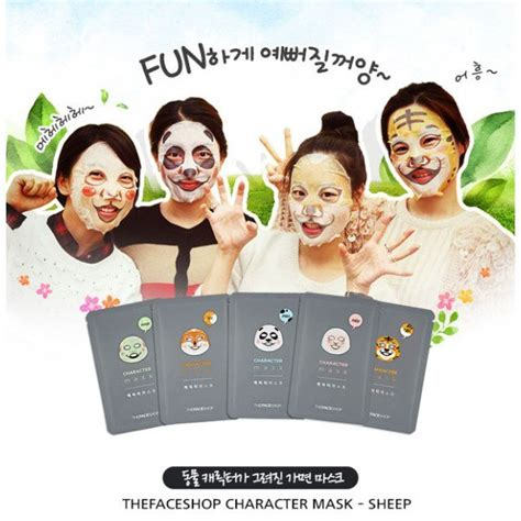 Masker The Shop news get and moisturised with the shop s character mask sheets beautifulbuns