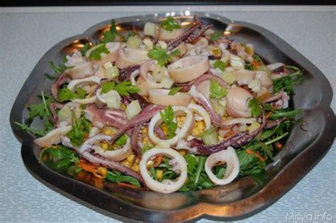 come cucinare i totani al forno insalata di calamari ricetta con foto passo passo
