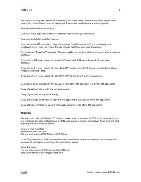 Experience Letter For H1b Visa H1 B Transfer H1b Employer H1b Sponsor H1b Consulting H1b Visa