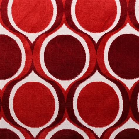 Funky Upholstery Fabric Uk by Designer Dfs Cut Velvet Large Retro Vintage Circle Spots