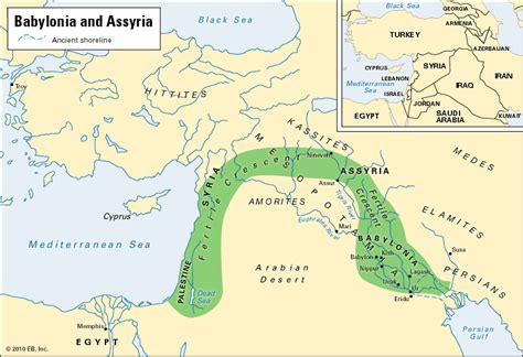 ancient middle east map river babylonia and assyria encyclopedia children s