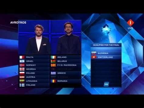 contest results 2014 results second semi eurovision song contest 2014