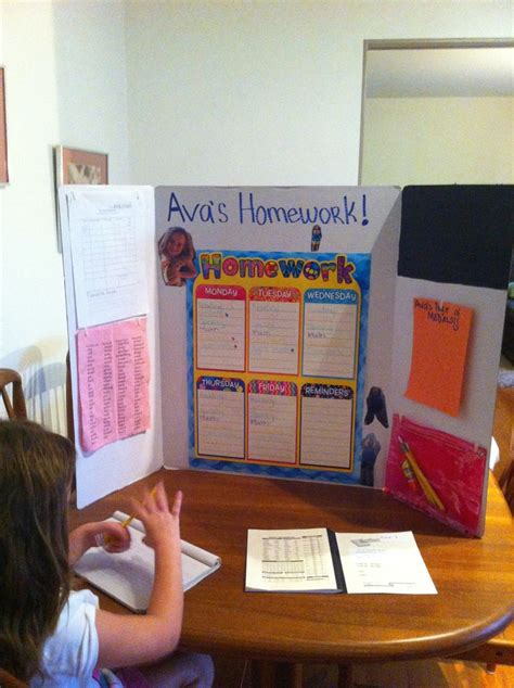 homework desk ideas portable homework station kids get a hi five sticker for