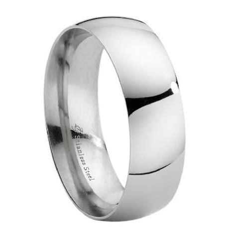 Edelstahlringe Hochzeit by Mens Stainless Steel Wedding Band Polished Domed