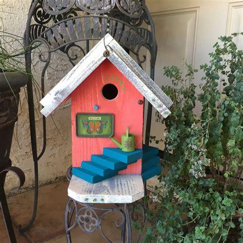 Handmade Birdhouses And Feeders - coral birdhouse green decorative functional unique