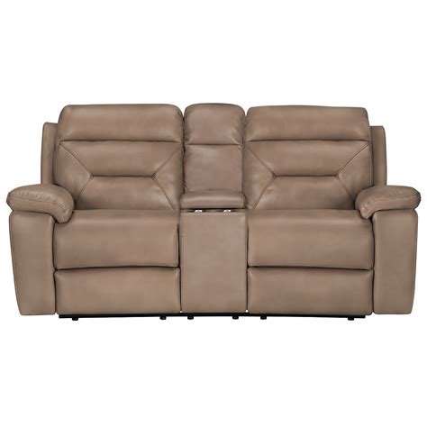 reclining loveseat microfiber city furniture phoenix dk beige microfiber reclining