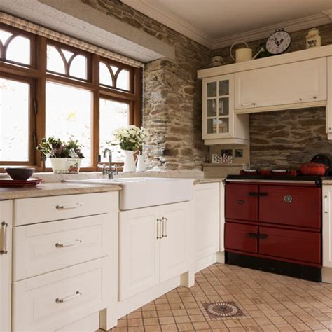 aga kitchen designs exposed brick country kitchen with aga exposed brick