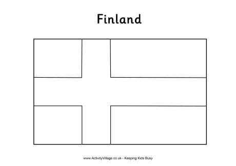european union flag coloring page finland colouring flag