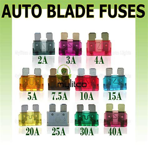 Fuse Sikring Motor Ukuran 5 10 15 20 flat blade fuse standard 2 3 4 5 7 5 10 15 20 25 30 40 car motorcycle ebay