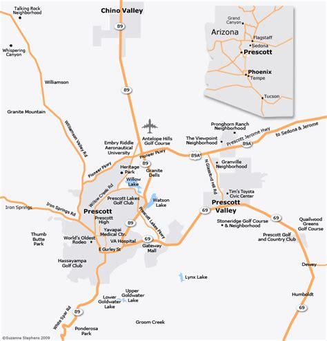 map of arizona prescott prescott az map gibbonsbeefarm