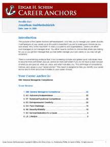 Reporting Sample Career Anchors Online Sample Report