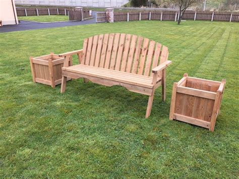 garden chair and plant box d g woodcraft